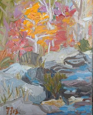 Painting - Surry Falls - Fall by Francine Frank