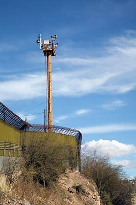 International Border Photograph - Surveillance Tower At Us-mexico Border by Jim West