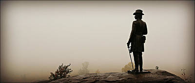 Military Bronze Photograph - Surveying The Battlefield by Stephen Stookey