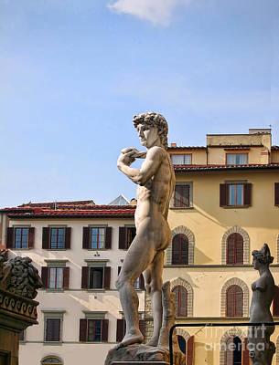 Photograph - Surveying The Piazza Della Signoria by Brenda Kean