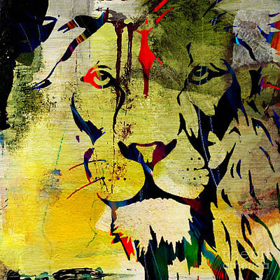 Cat Mixed Media - Survival by Marvin Blaine