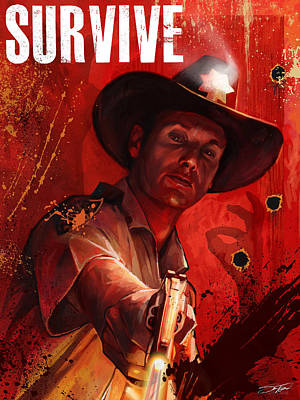 Digital Art - Survive by Steve Goad