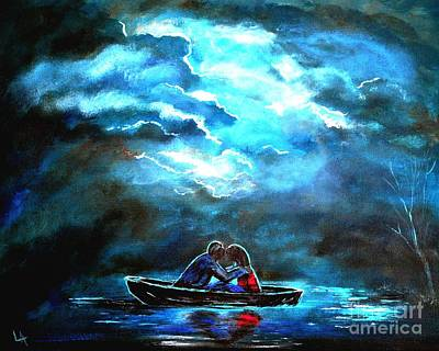 Surviving The Storm Art Print by Leslie Allen