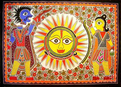 Painting - Surya Grahan by Neeraj kumar Jha