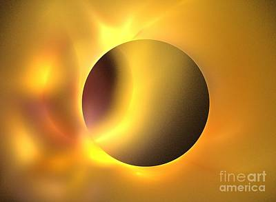Solar Eclipse Digital Art - Surya by Kim Sy Ok