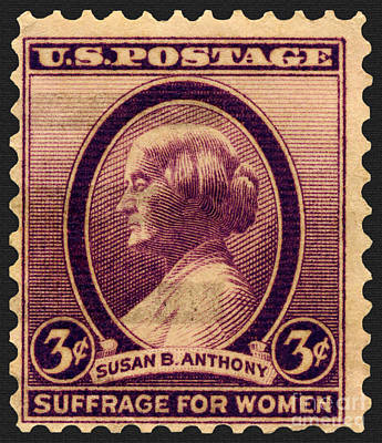 Photograph - Susan B. Anthony Commemorative Postage Stamp by Phil Cardamone
