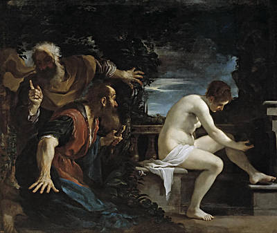 Guercino Painting - Susanna And The Elders by Guercino