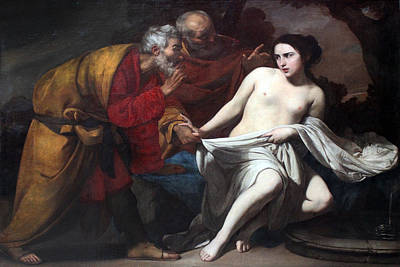 Bible Poster Painting - Susanna And The Elders  by Massimo Stanzione