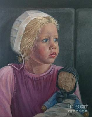 Horse And Buggy Painting - Susannah's Rag Doll by Susan Kathryn Peck