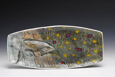A Fish Out Of Water Sculpture - Sushi Dish by Mark Chuck