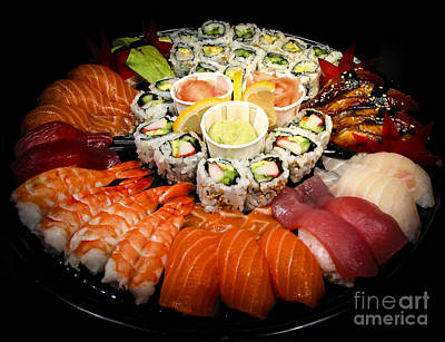 Sushi Party Tray Art Print by Elena Elisseeva