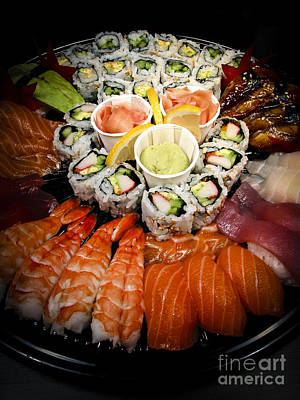 Banquet Photograph - Sushi Tray by Elena Elisseeva