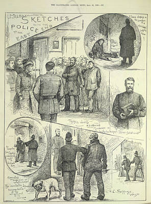 Suspects Arrested Art Print by British Library