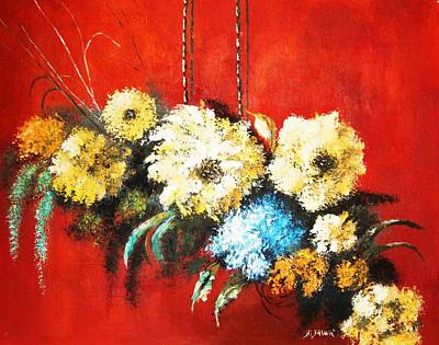 Art Print featuring the painting Suspended Bouquet by Al Brown
