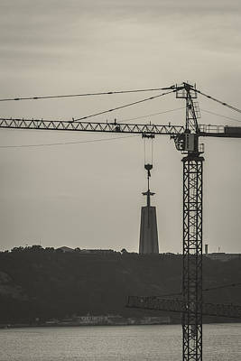 Tower Crane Photograph - Suspended Christ by Marco Oliveira