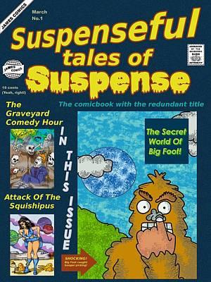 Suspenseful Tales Of Suspense No.1 Art Print by James Griffin