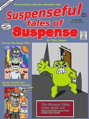 Suspenseful Tales Of Suspense No.3 Art Print by James Griffin