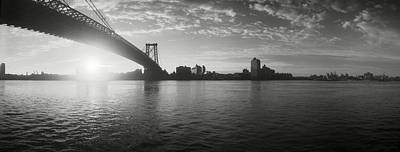 White River Scene Photograph - Suspension Bridge At Sunrise by Panoramic Images