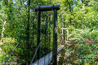 Photograph - Suspension Bridge Crowley Ridge State Park Arkansas  by DJ Laughlin