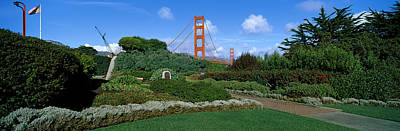 Bay Bridge Photograph - Suspension Bridge, Golden Gate Bridge by Panoramic Images