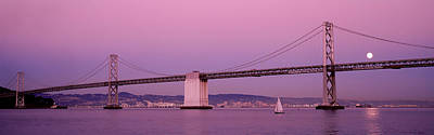 Bay Bridge Photograph - Suspension Bridge Over A Bay, Bay by Panoramic Images