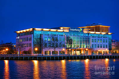 Susquehanna Bank Building In Camden Art Print by Olivier Le Queinec