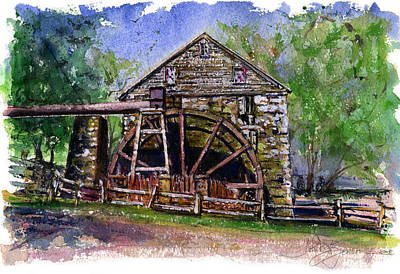 Painting - Susquehanna Mill by John D Benson