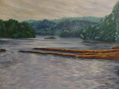 Painting - Susquehanna River At Saginaw Pa by Joann Renner