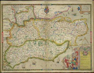 Sussex And Kent Art Print by British Library