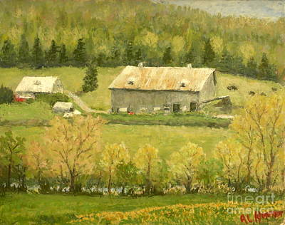 Painting - Sussex Nb Farm by Al Hunter