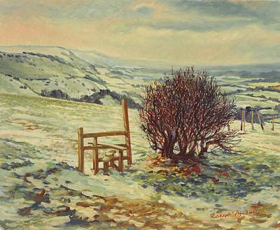 Snow Scene Photograph - Sussex Stile, Winter, 1996 by Robert Tyndall