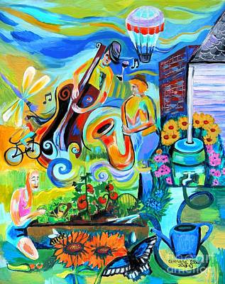 Painting - Dogtown Street Musicians Festival by Genevieve Esson