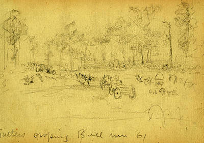 July 21 Drawing - Sutlers Crossing Bull Run 61 by Quint Lox