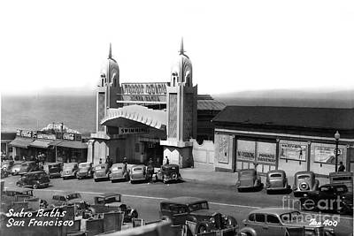 Photograph - Sutro Baths Entrance San Francisco California Circa 1948 by California Views Archives Mr Pat Hathaway Archives