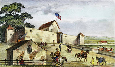 Painting - Sutter's Fort, 1849 by Granger