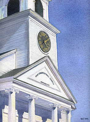 Sutton Painting - Sutton Congregational Church by Heidi Gallo