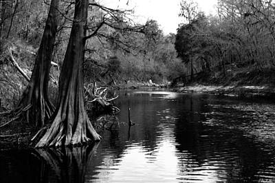 Suwannee River Black And White Art Print