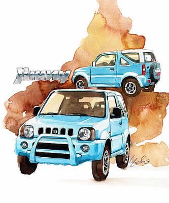 Suzuki Jimny Art Print by Yoshiharu Miyakawa
