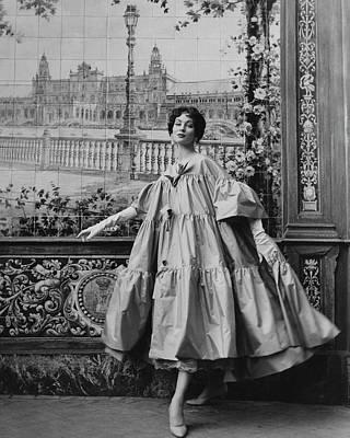 Suzy Parker Wearing A Coat By Pertegaz Art Print