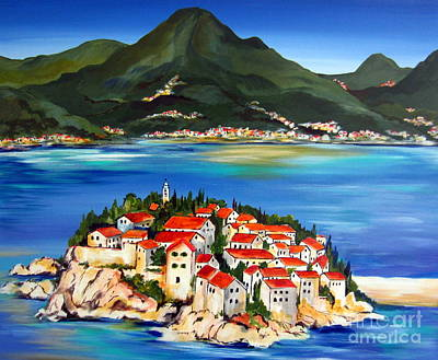 Sveti Stefan Montenegro 2 Art Print