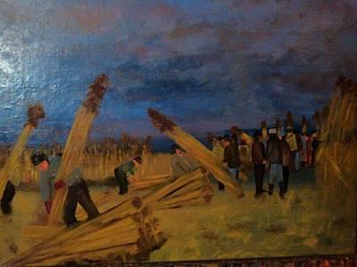 Svetsko Prvenstvo U Secenju Trske Art Print by Lazar Caran