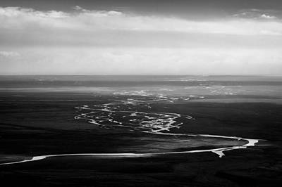 Photograph - Svinafell Rivulets by Dave Bowman