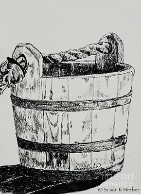 Swabber's Bucket Art Print by Susan Herber
