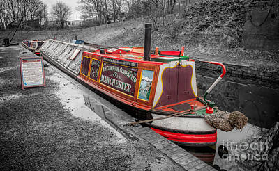 Victorian Town Digital Art - Swallow Canal Boat by Adrian Evans