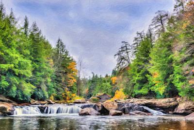 Swallow Falls Oil Painting Art Print