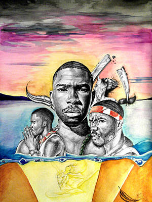 Frank Ocean Drawing - Swallow The Pill by Lance Rhodes