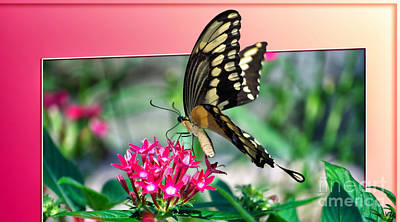 Tom Woolworth Digital Art - Swallowtail Butterfly 04 by Thomas Woolworth