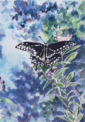 Painting - Swallowtail Butterfly by Jan Bennicoff