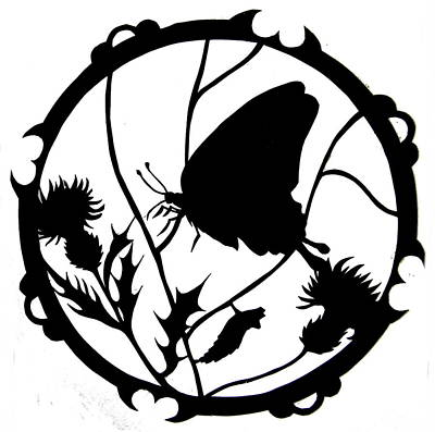 Mixed Media - Swallowtail Butterfly Silhouette by Dale Jackson