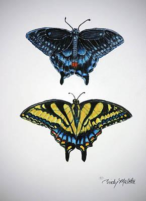 Swallowtail Friends Original by Cindy Malota